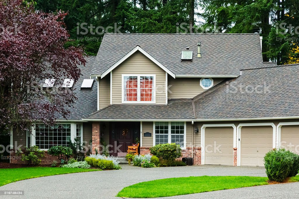 American Suburban Home stock photo