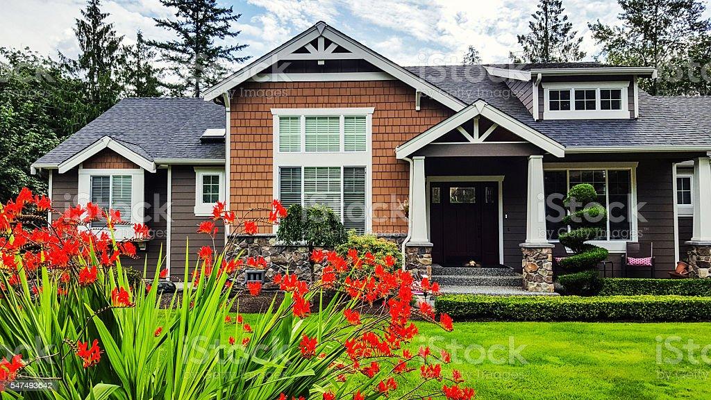American Suburban Home stock photo