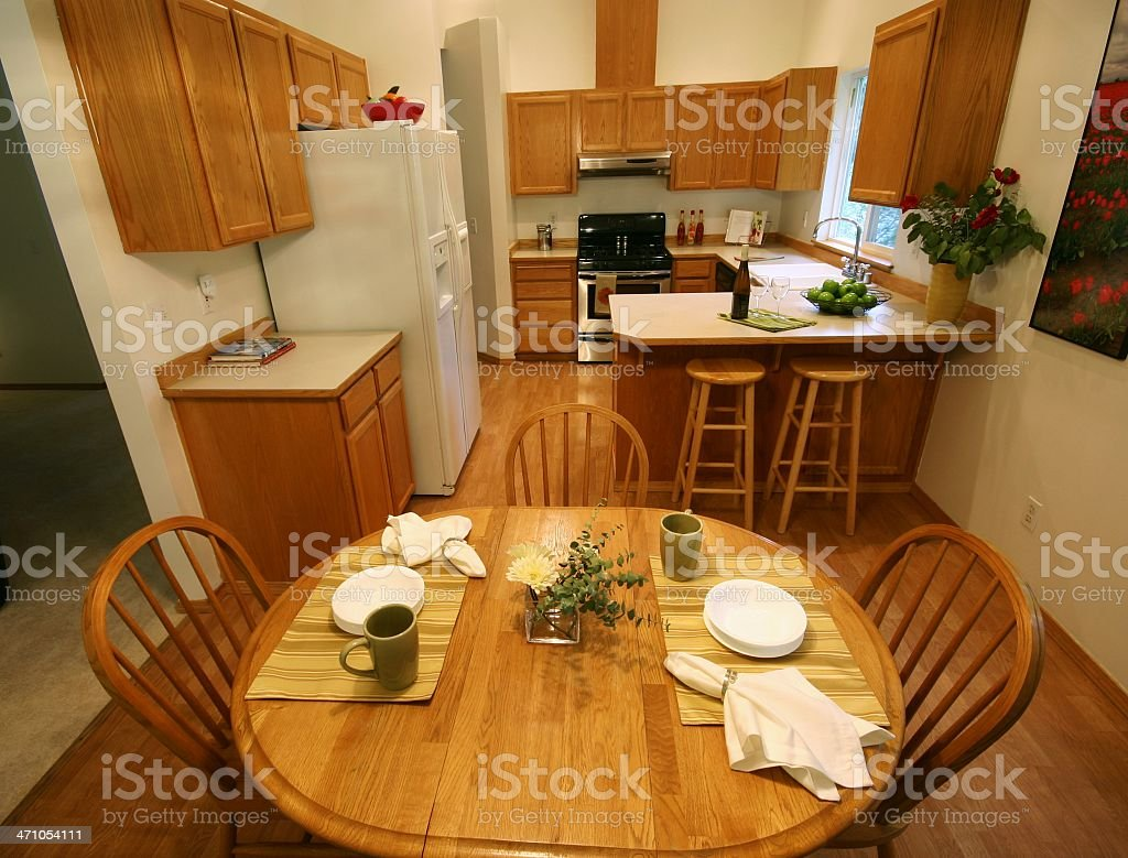 American Suburban Kitchen royalty-free stock photo