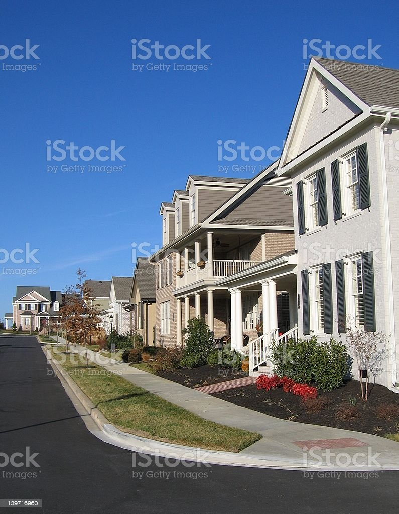 American Suburban Neighborhood Homes stock photo