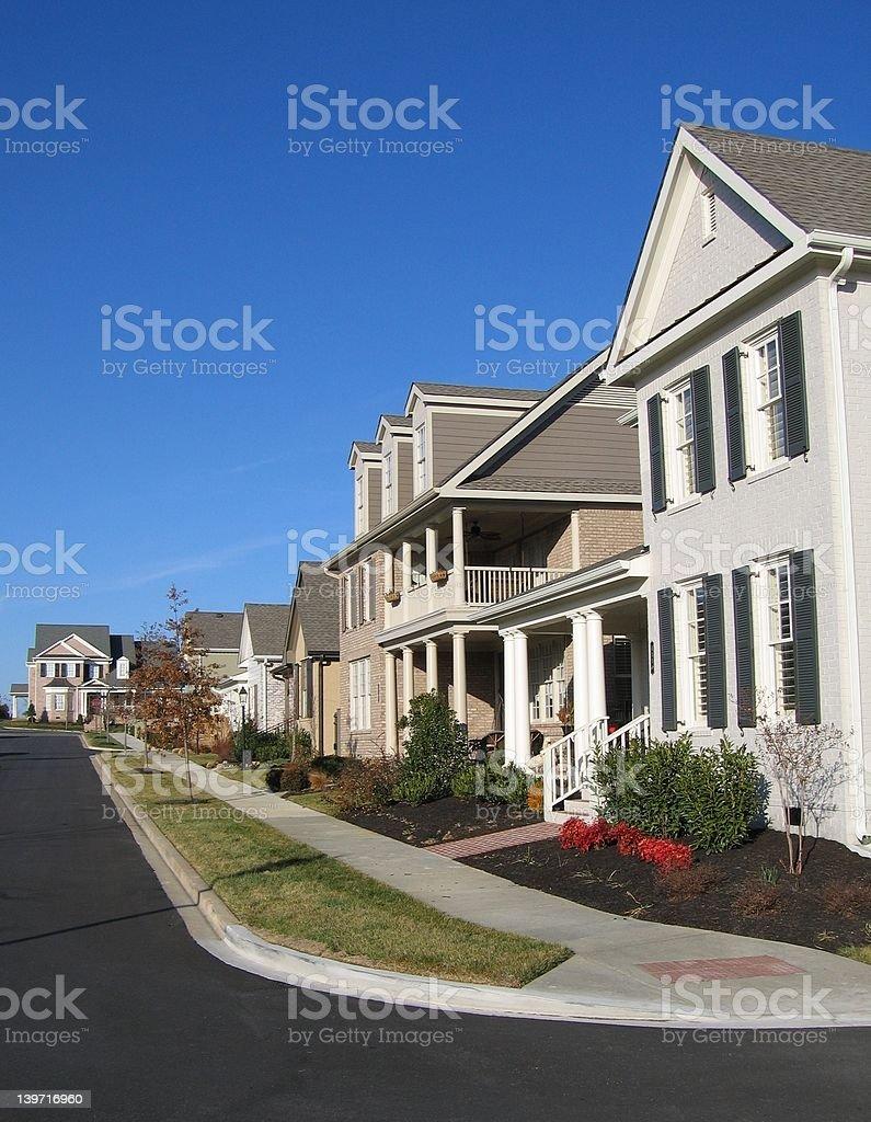 American Suburban Neighborhood Homes stock photo