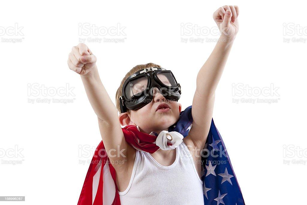 American Super Boy stock photo