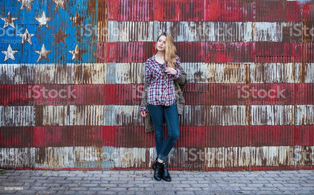 American super model stock photo