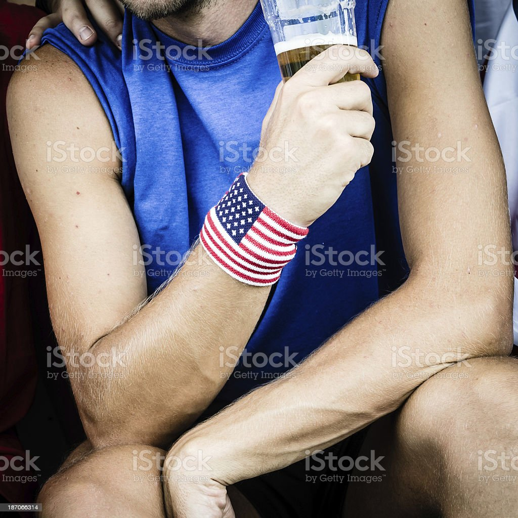 American supporters detail stock photo