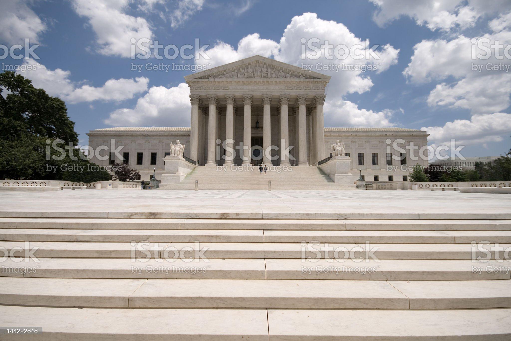 American Supreme Court Building, Washington DC, Blue Sky royalty-free stock photo