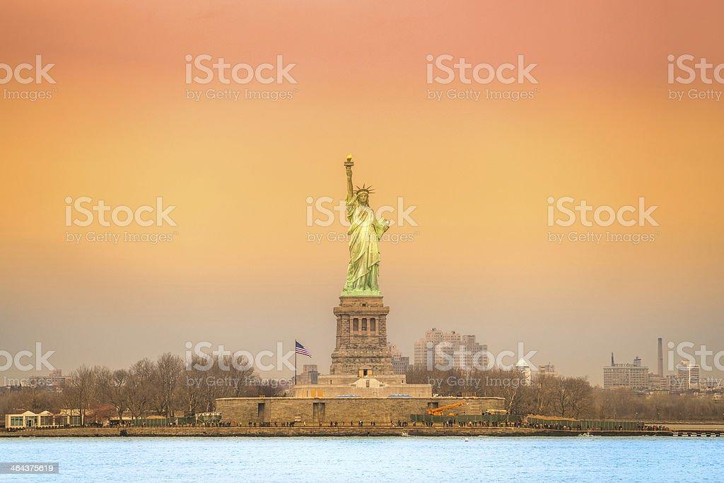 Amerikanischer symbol-Statue von Liberty.  New York, USA. – Foto