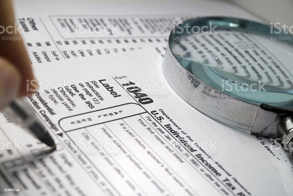 american tax form royalty-free stock photo