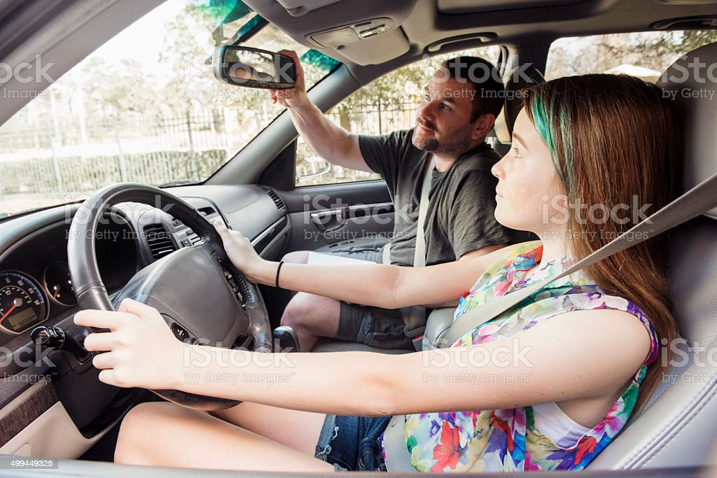 American Teen Learning Driver's Education stock photo