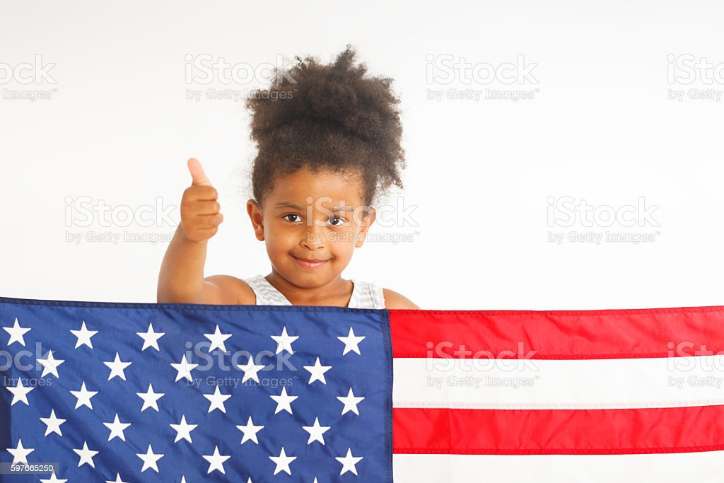 American thumb up stock photo