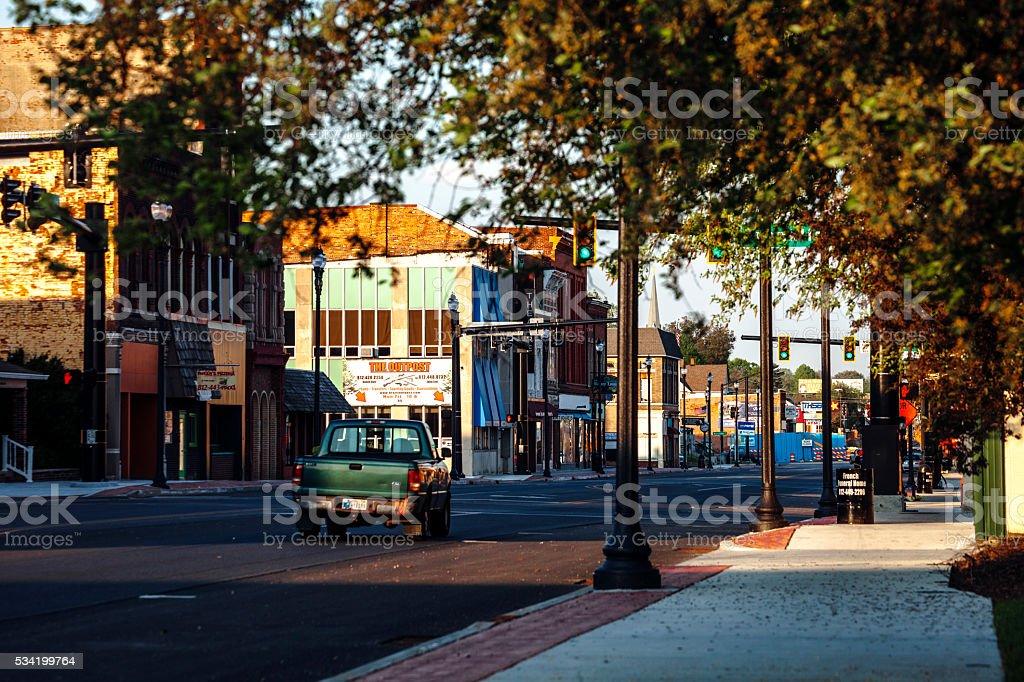 American town - Terre Haute, Indiana. stock photo