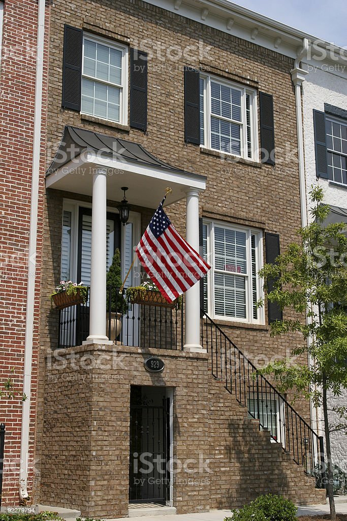 American Townhouse royalty-free stock photo