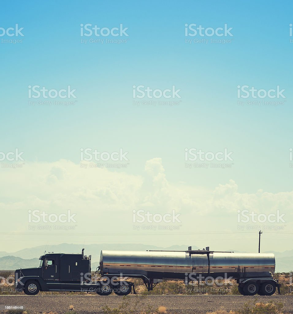 American truck on route 66 - USA royalty-free stock photo
