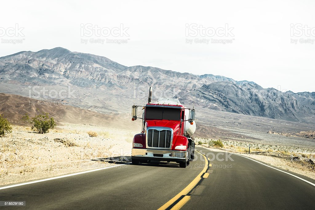 American truck on the death valley state park stock photo