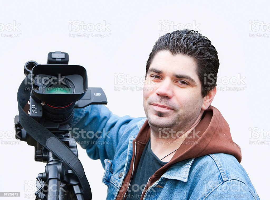 American video camera operator royalty-free stock photo