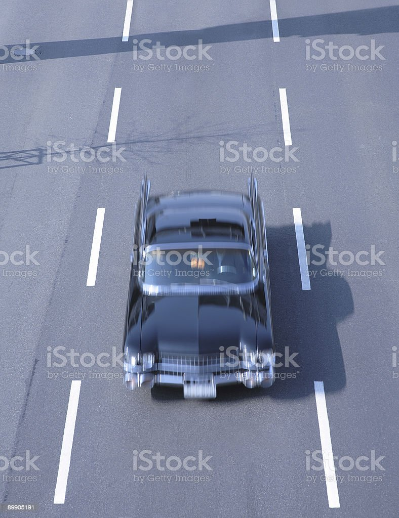 American Vintage Car at Speed stock photo