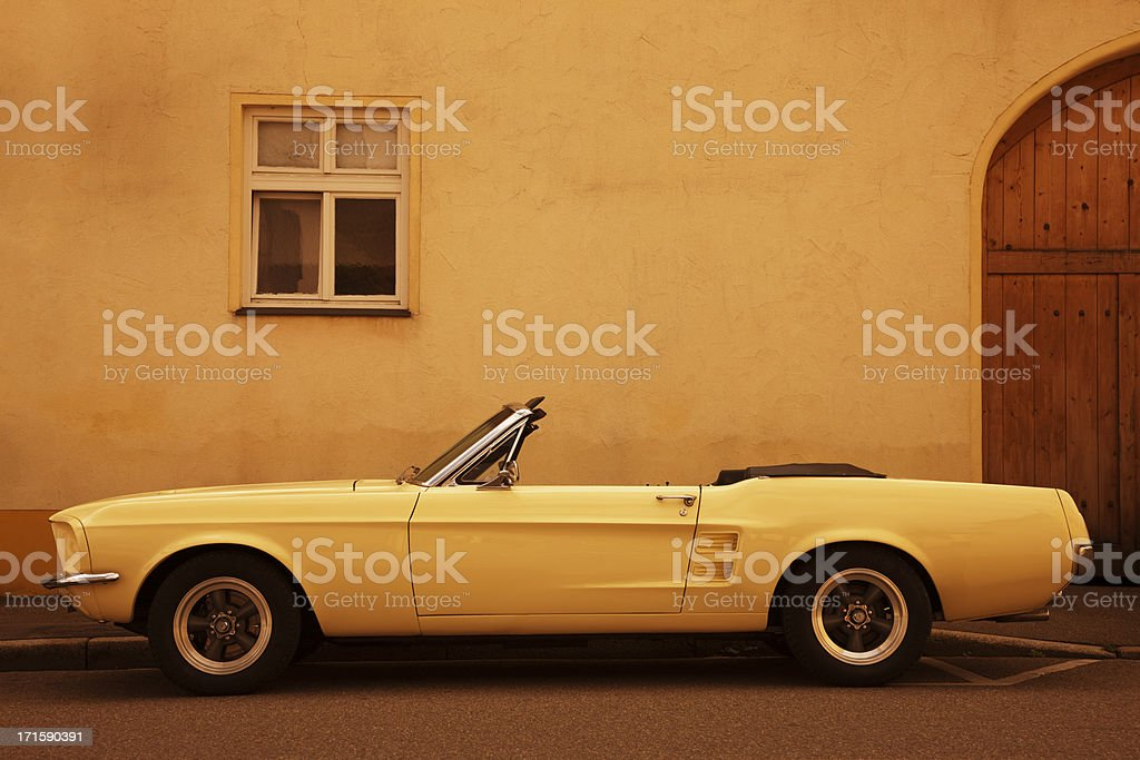 American Vintage Car on Street stock photo