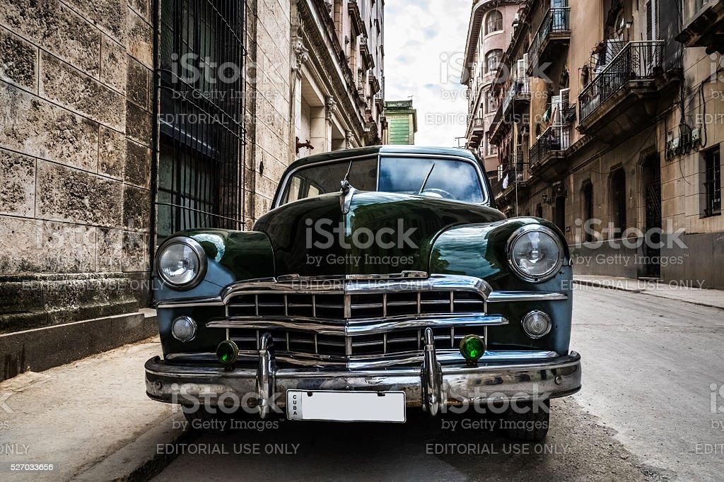 American vintage car parked in Havana Cuba stock photo