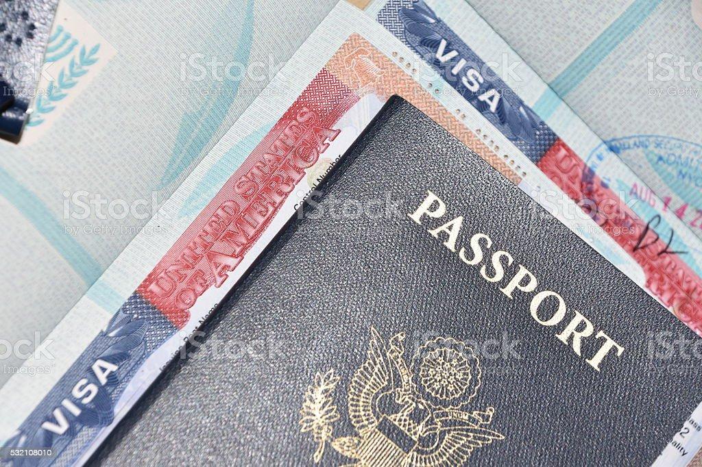 American visa stock photo