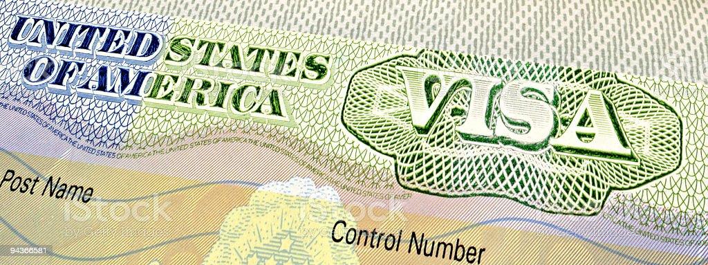 American Visa royalty-free stock photo