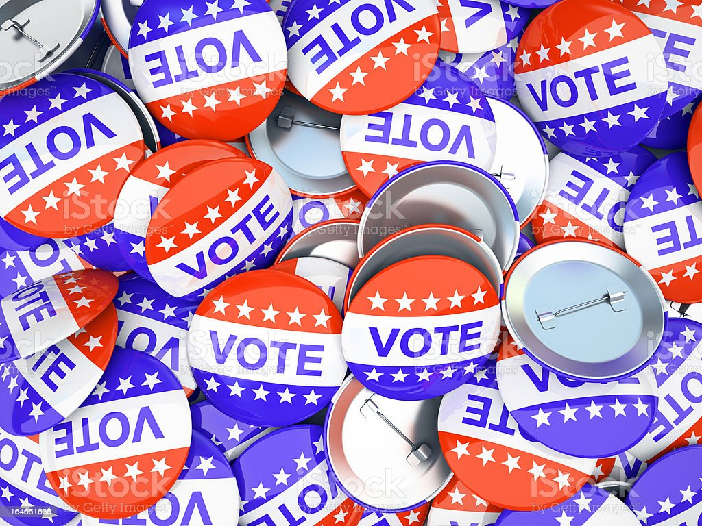 American vote buttons  illustration stock photo