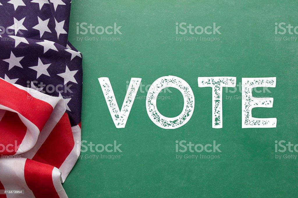 American vote election concept stock photo