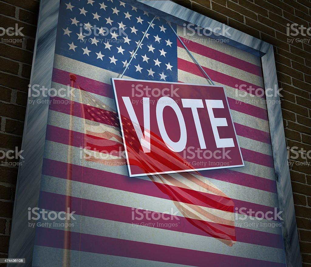 American Vote stock photo