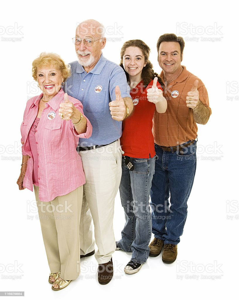 American Voters Isolated royalty-free stock photo