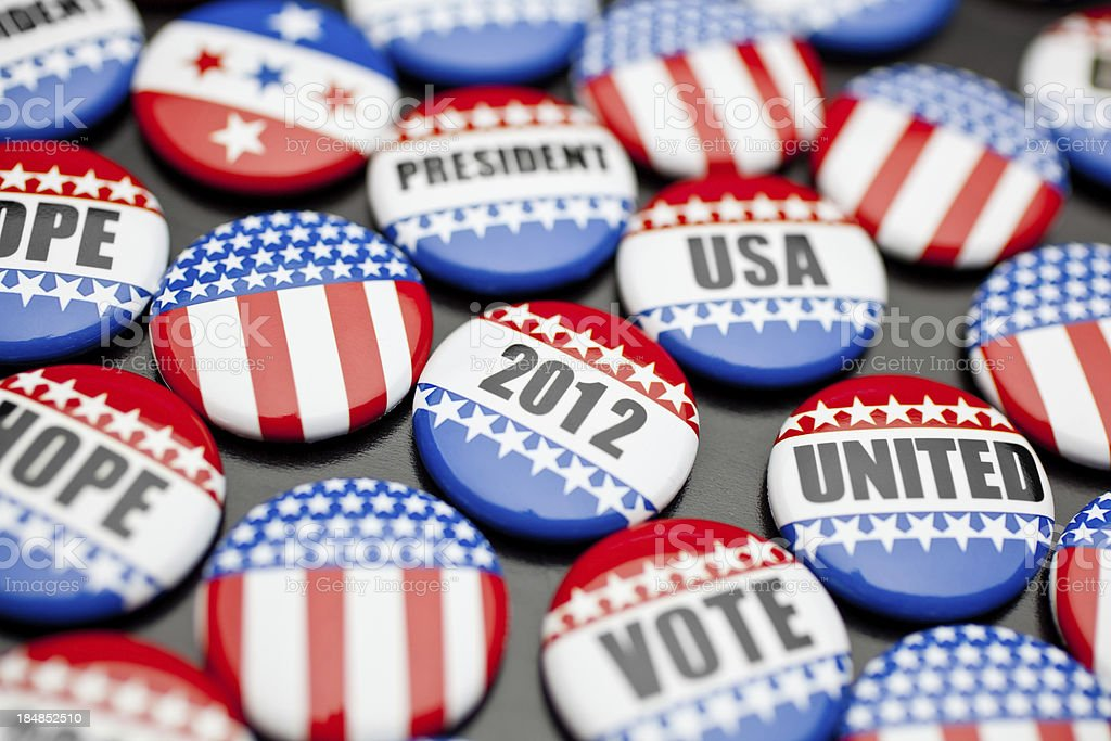 american voting pins for election royalty-free stock photo