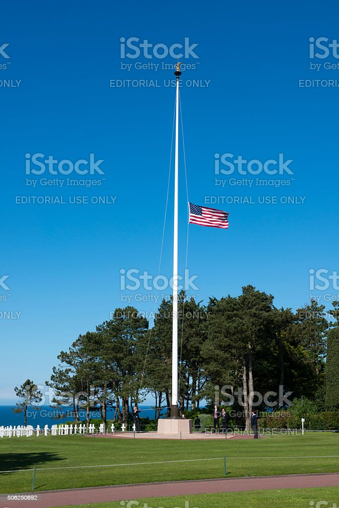 American war cemetery - Colleville, Normandy, France stock photo