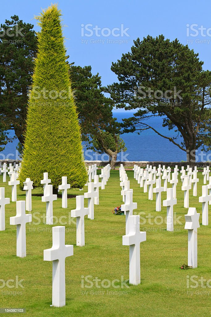 American War Cemetery royalty-free stock photo