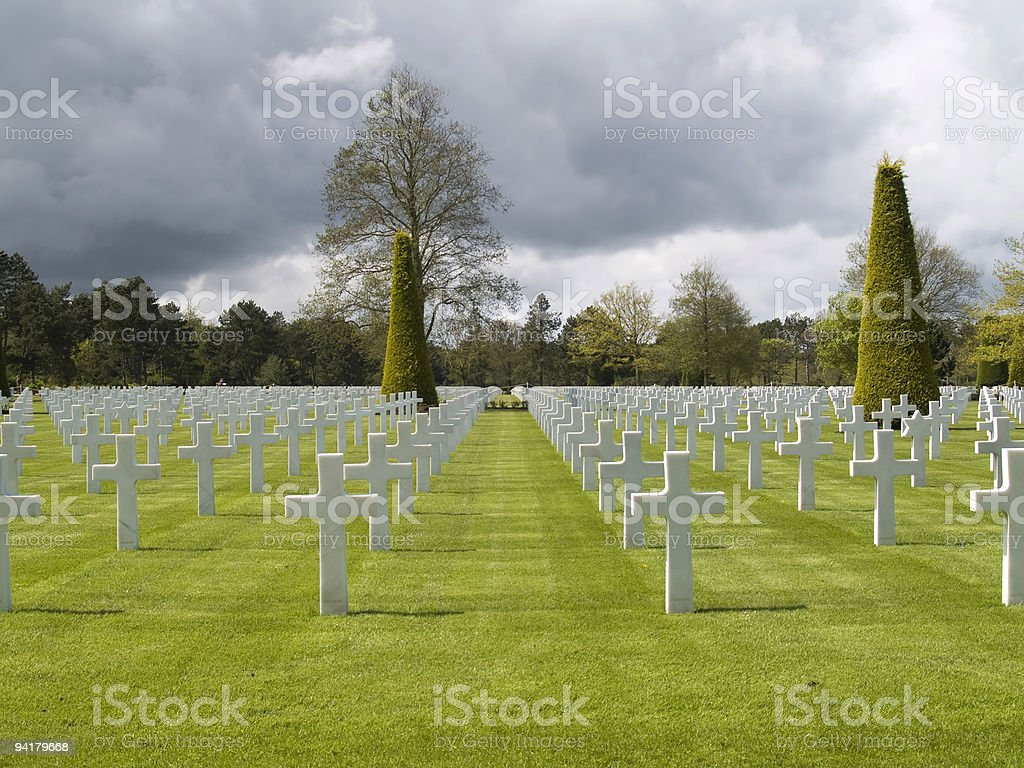 American War Cemetery stock photo