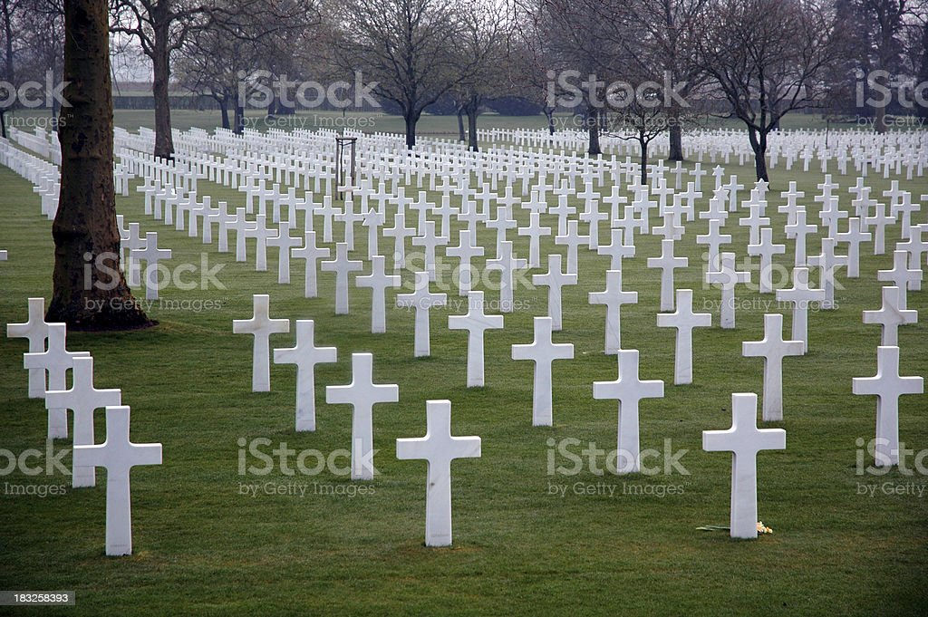 American War Dead - Crosses royalty-free stock photo