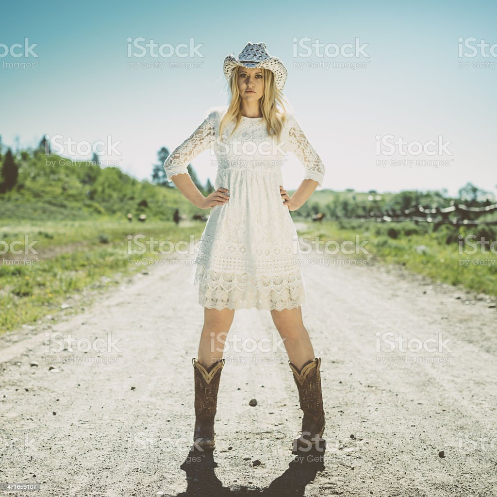 American Western Girl royalty-free stock photo