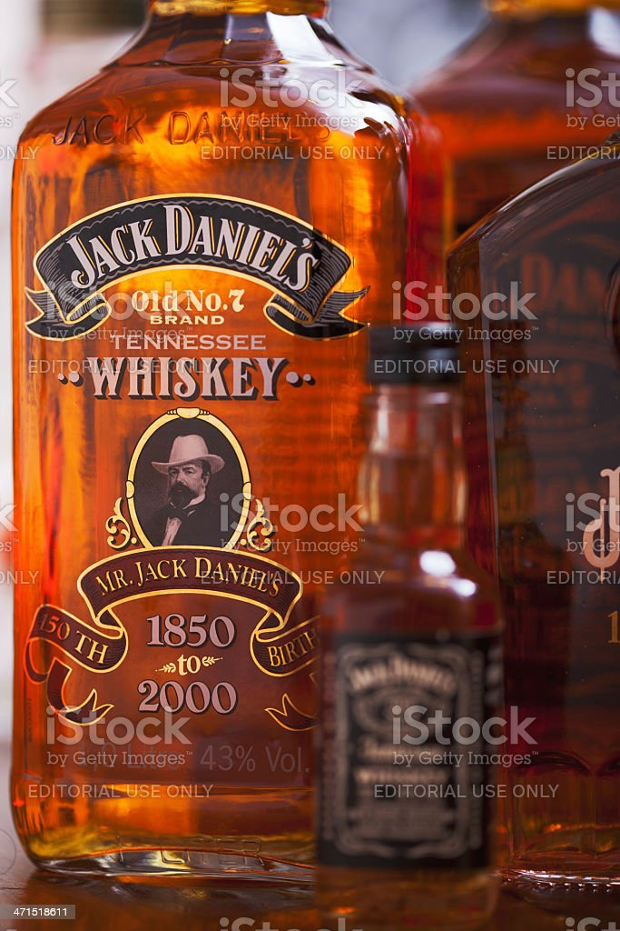 American whisky in a bottle. royalty-free stock photo