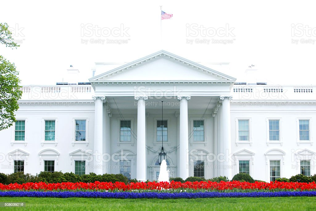 American White House Washington DC NEW stock photo