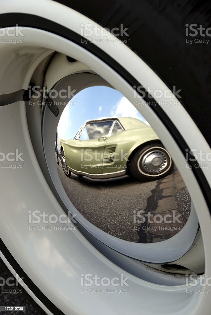 american whitewall tire royalty-free stock photo