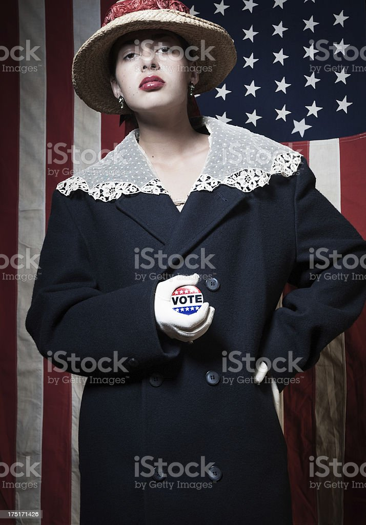 American woman voter stock photo