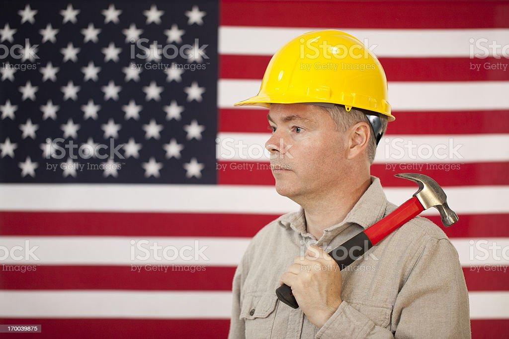 American Worker stock photo