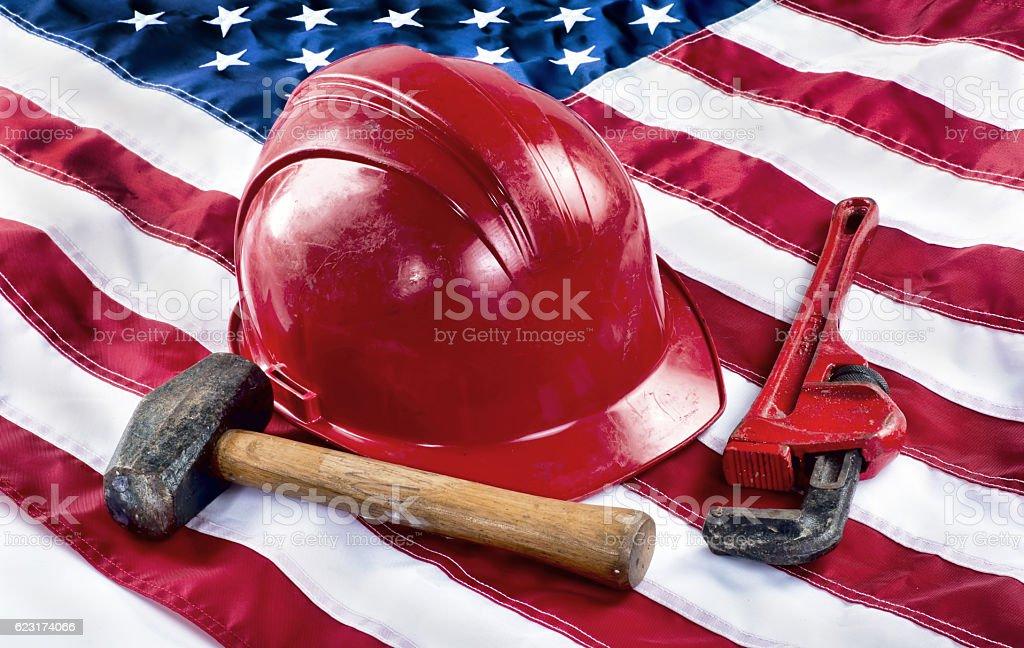 American Worker. stock photo