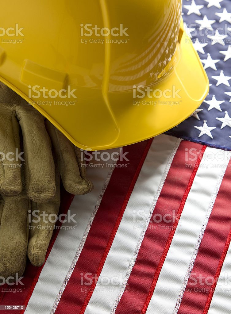 American Workers stock photo