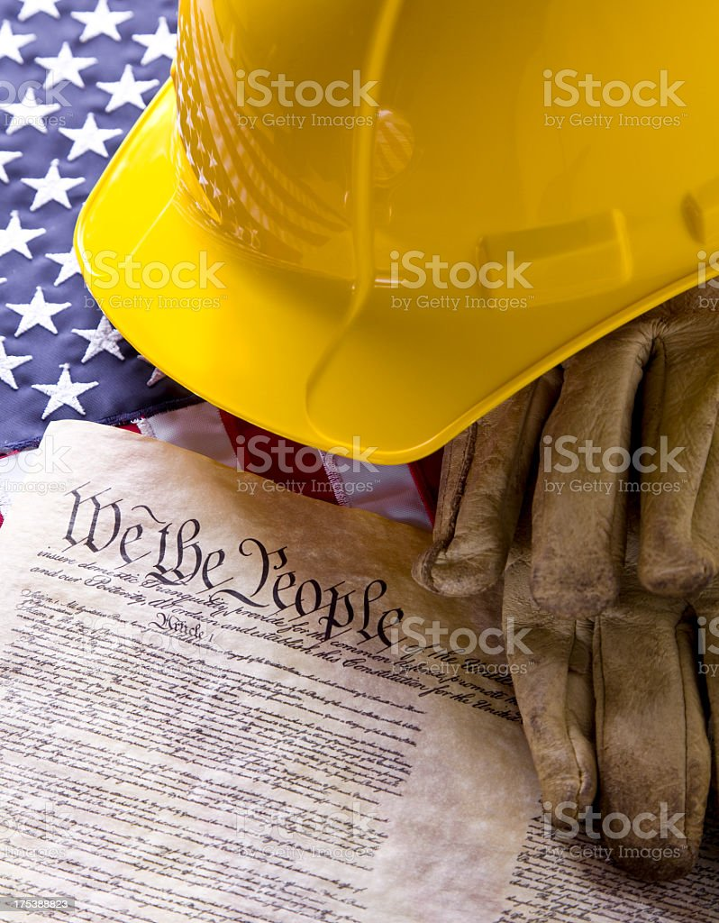 American Workers royalty-free stock photo