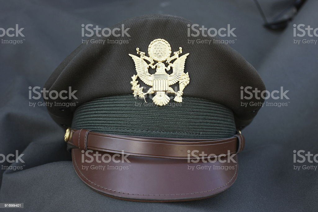 American world war II officer hat royalty-free stock photo