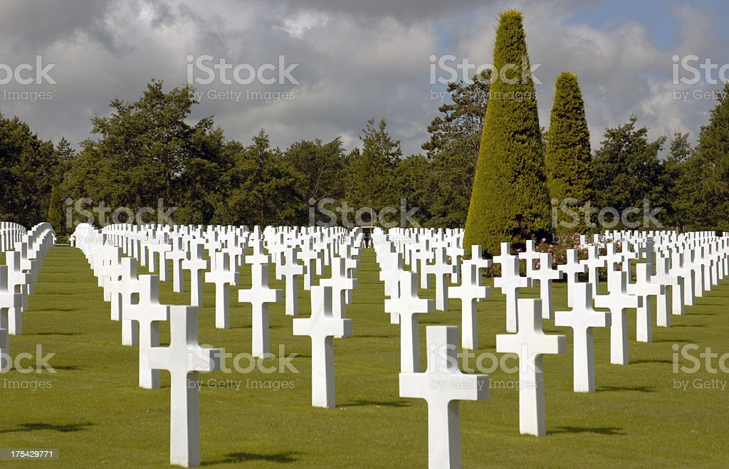 American WWII cemetery in Normandy. royalty-free stock photo