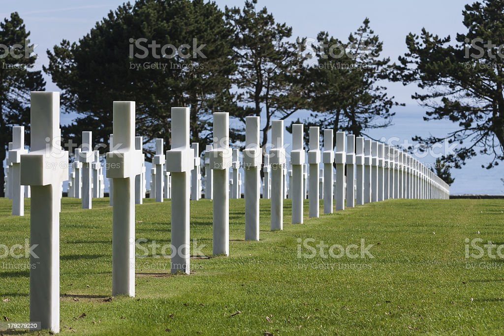 American WWII cemetery  in Normandy royalty-free stock photo