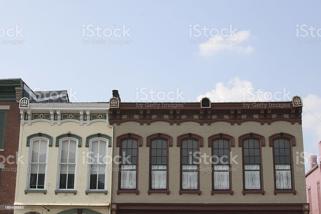Americana - old town buildings on Main Street royalty-free stock photo