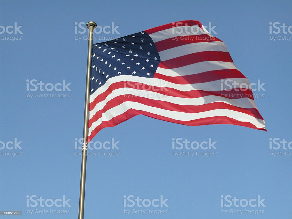AmericanFlag 02 royalty-free stock photo
