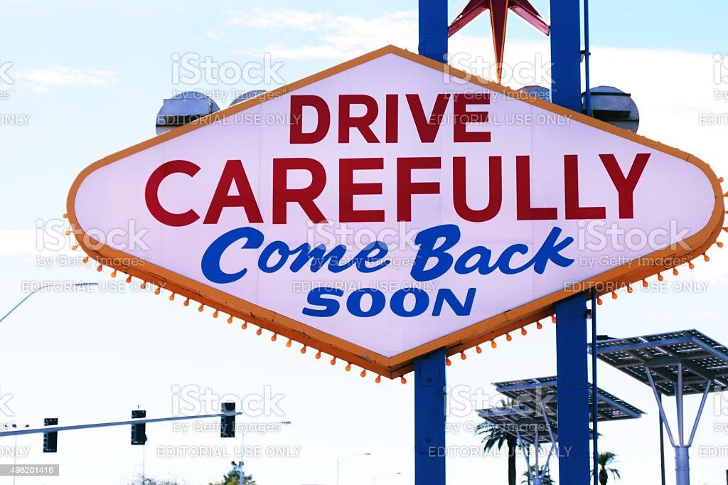 American,Nevada,Welcome to Never Sleep city Las Vegas stock photo