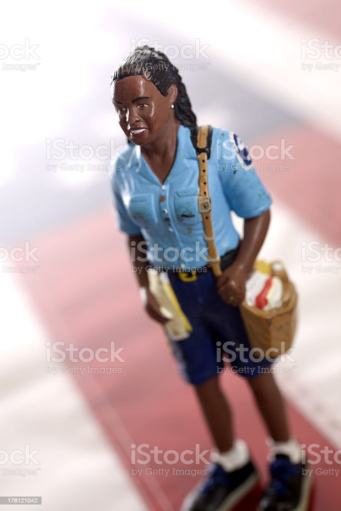 Americans: African American Postal Worker stock photo