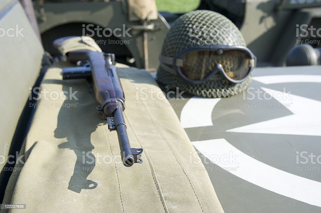 WWII Americans royalty-free stock photo
