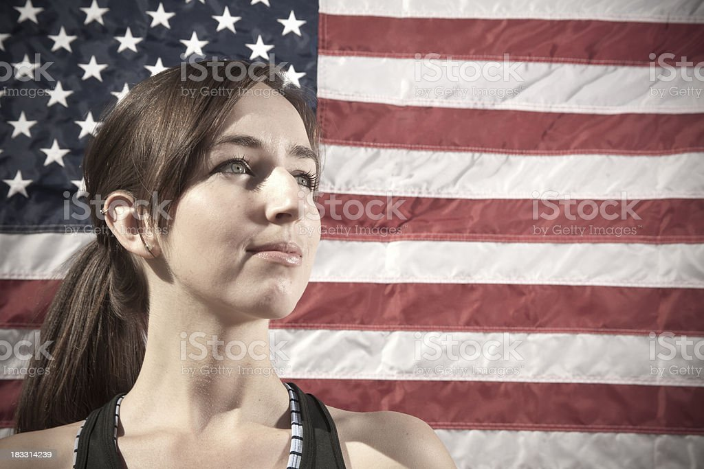 Americans: Young Caucasian Woman stock photo